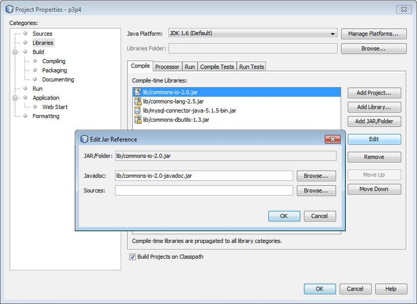 Netbeans, Apache Commons and Commons Javadoc for Auto-completion