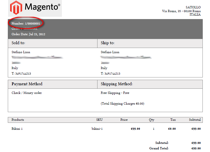 magento: how to sligtly modify the invoice pdf, Invoice examples